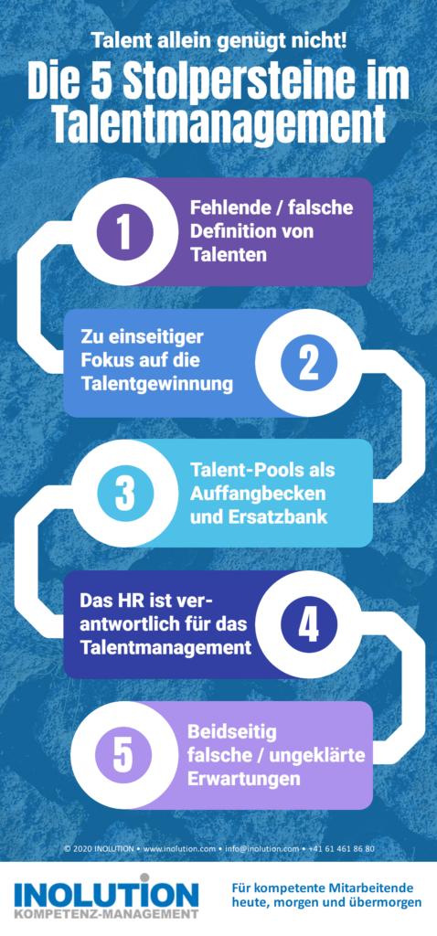 Die 5 Stolpersteine im Talentmanagement